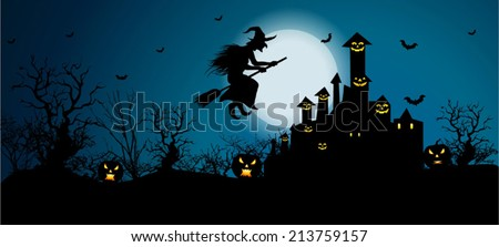 Vector Background for Halloween Celebrations. Easy to edit, Vector/ EPS 10