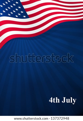 Vector background for Independence Day and other events - stock vector