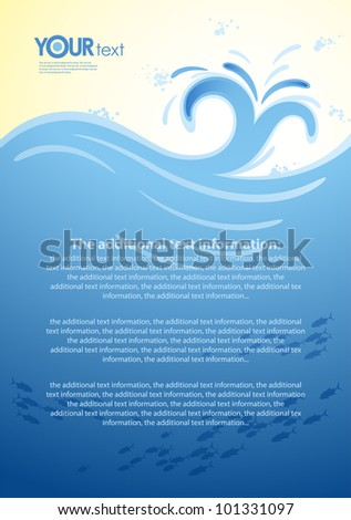Vector background for the design of sea wave