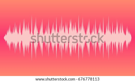 Vector background gradient musical wave balance red pink