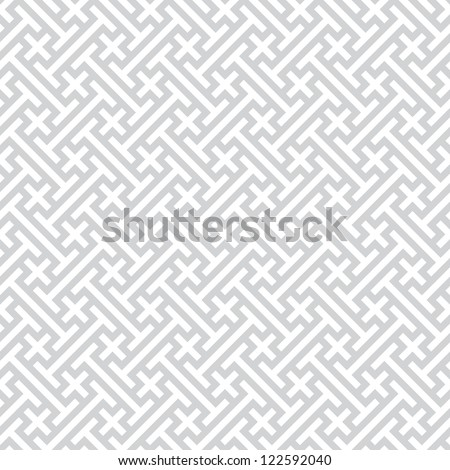 Vector background - gray seamless geometric pattern - stock vector