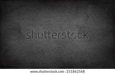 Vector background grunge illustration. Textured black paper - stock vector