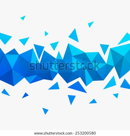 Vector background. Illustration of abstract texture with triangles. Low poly style. Pattern design for banner, poster, flyer, card, postcard, cover, brochure. - stock vector