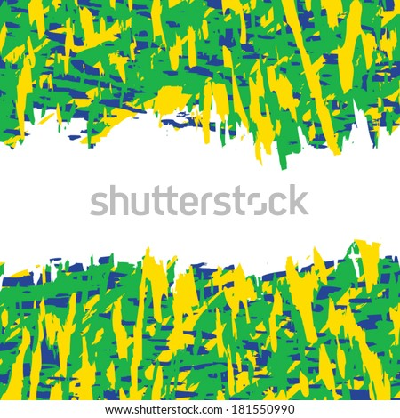 Vector background in Brazil flag concept, with space  - stock vector