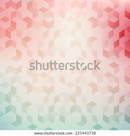 Vector background in pastel colors. Geometric trendy pattern. Modern stylish texture - stock vector