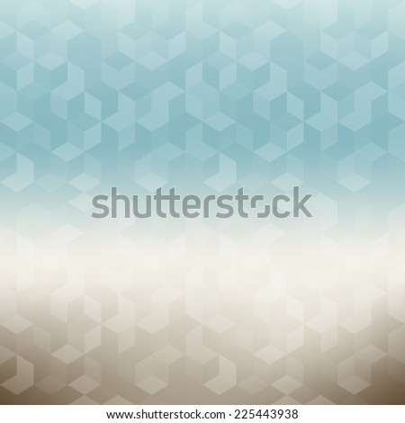 Vector background in pastel colors. Geometric trendy pattern. Modern stylish texture with geometric ripples - stock vector