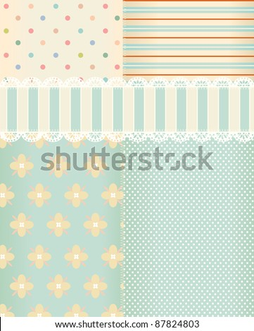 Vector background in style shabby chic - stock vector