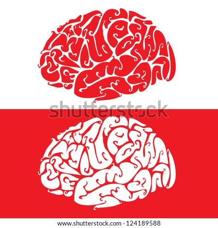 Vector background of a human brain. - stock vector
