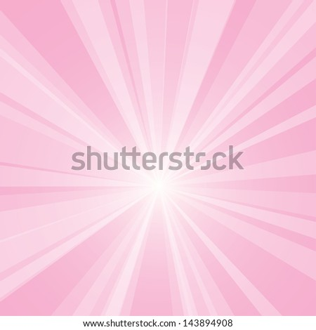 Vector background of a pink burst. - stock vector