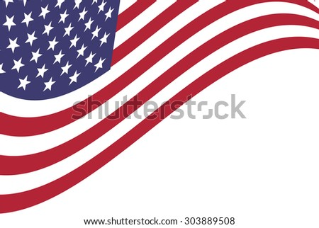 Vector background of American flag