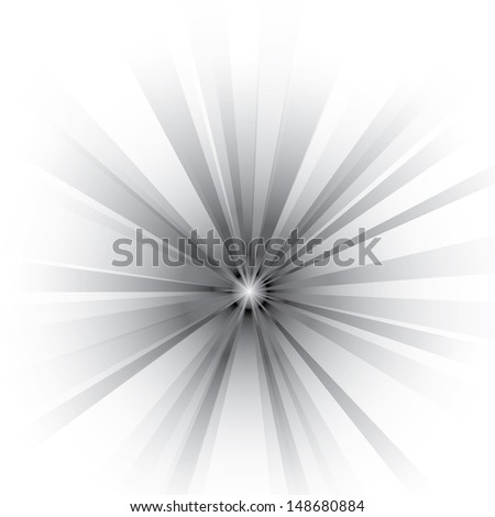 Vector background of an abstract black burst. - stock vector