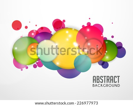 Vector background of colorful circles.