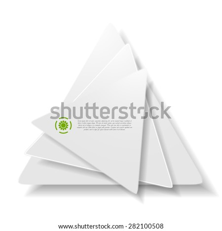 Vector background of concept triangle shapes. Grey colors technology logo - stock vector