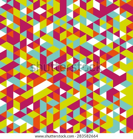 Vector background of different color chaotic triangles
