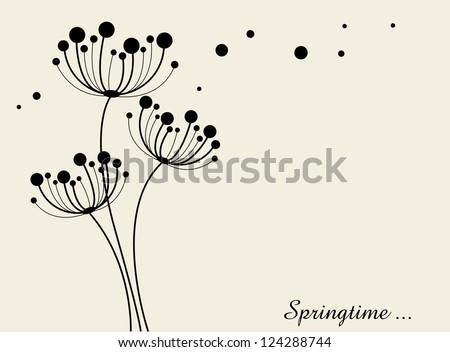 Vector background of flowers- springtime - stock vector
