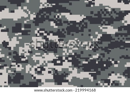vector background of grey digital camoflage pattern - stock vector