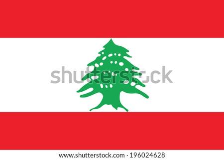 vector background of Lebanon flag - stock vector