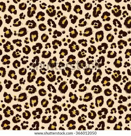 Vector background of leopard skin pattern.
