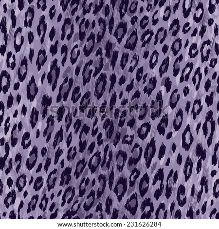 Vector background of leopard skin. Seamless pattern.