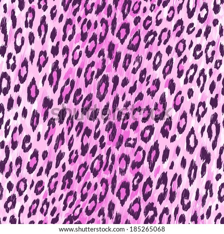 Vector background of purple leopard skin. Seamless pattern. - stock vector