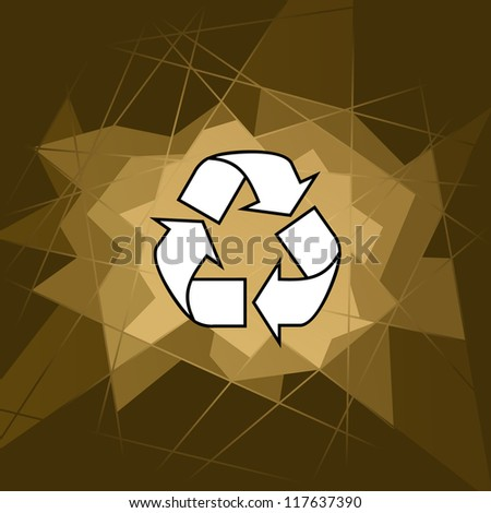 vector background of recycle symbol