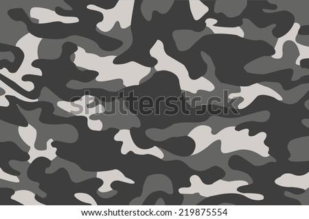 vector background of soldier grey camo - stock vector