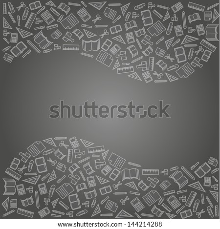 vector background of the icons the education - stock vector