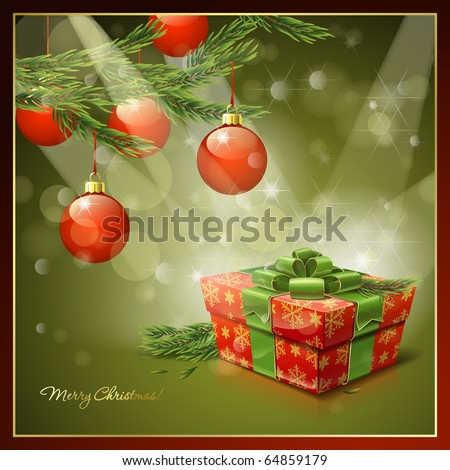 Vector background on the Christmas theme - stock vector