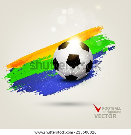 vector background on the football theme - stock vector