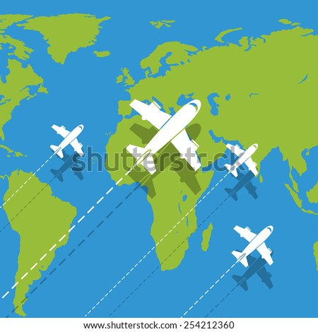 Vector background planes - stock vector
