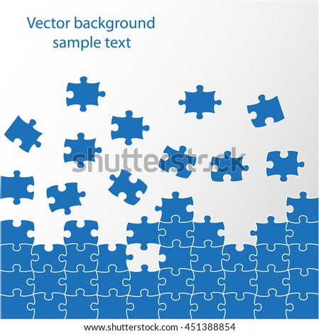 vector background puzzle