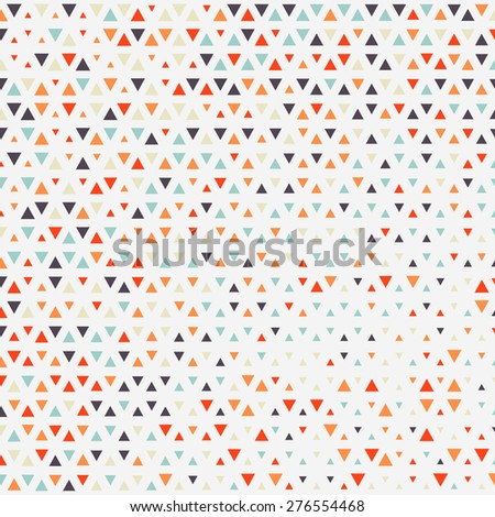 Vector background.  Repeating geometric tiles from color triangles.  - stock vector