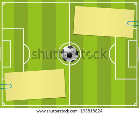 Vector background. Soccer.