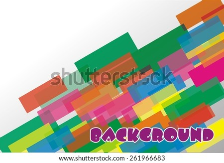 vector background squares and rectangles
