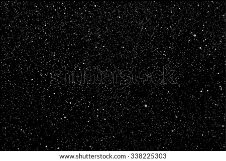 Vector background. Starry night sky. Stars, sky, night. The falling snow.