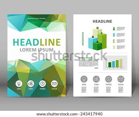Vector Background Template Modern Brochure Designlayout Stock Vector