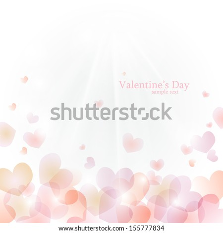 Vector background to Valentine's Day with hearts - stock vector