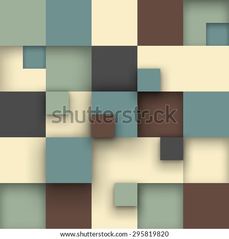 Vector background. Vector Illustration of abstract squares. Background design for poster, flyer. - stock vector