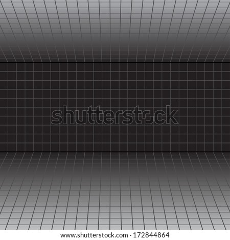 Vector background with a perspective grid.