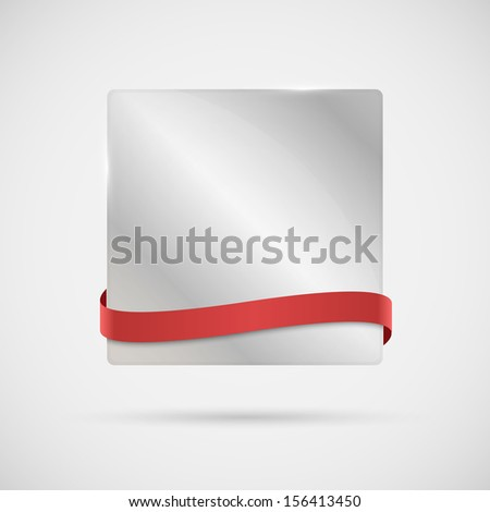 Vector background with a red ribbon for your text