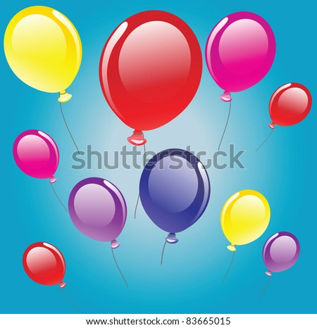 vector background with balloons.