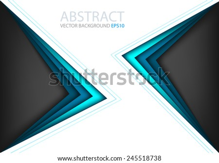 vector background with blue bright angle line overlap layer white space for text and message modern artwork design - stock vector