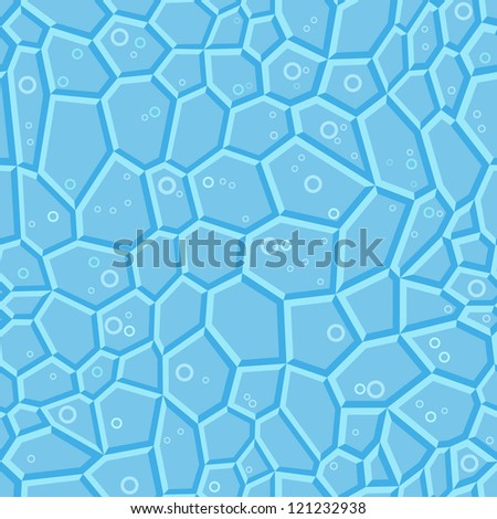 Vector background with blue crystals - stock vector