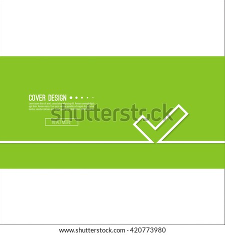 Vector background with check marks or ticks. checkbox. Web and mobile applications. acceptance positive passed voting. Green. template, layout - stock vector