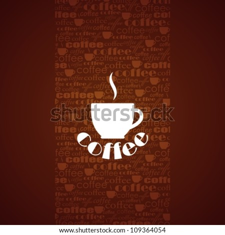 vector background with coffee cup - stock vector