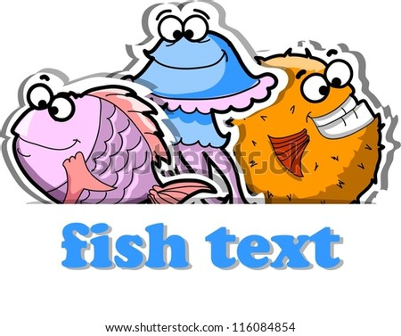 Vector background with cute fishes