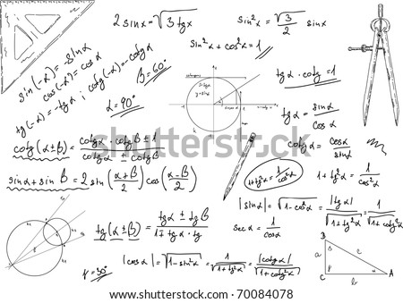 vector -  background with drawing instruments isolated - stock vector
