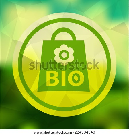 Vector background with eco ahopping bag. eps10. - stock vector