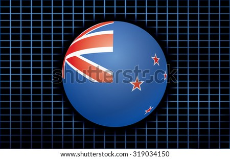 Vector background with flag of New Zealand. - stock vector