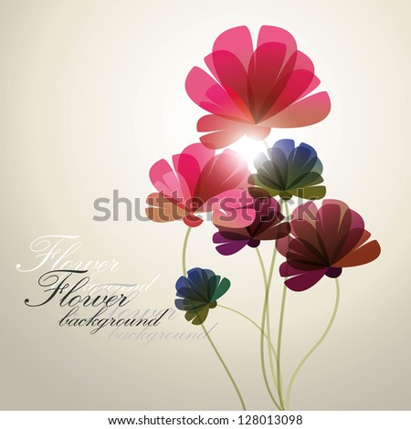 vector background with Flower - stock vector